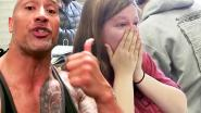 VIDEO: Dwayne 'The Rock' Johnson geeft fan verrassing van haar leven