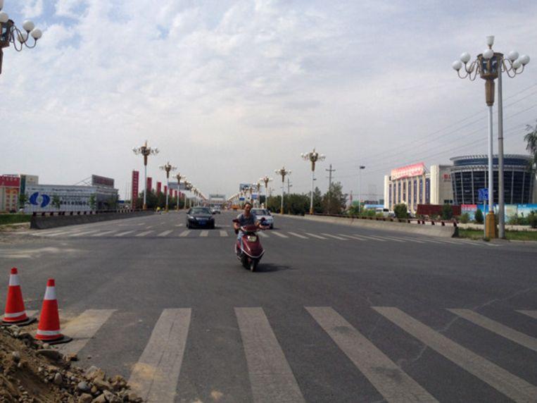 De grensovergang met Kazachtstan Beeld Yilan Yuen