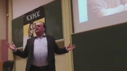 """Studentenvereniging KVHV reageert na controversiële lezing Hoeyberghs: """"Wij hebben ons doel bereikt, het debat is nu geopend"""""""