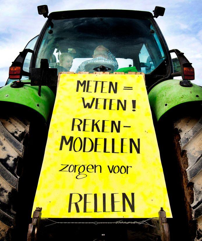 Boeren op 1 oktober op weg naar het Malieveld.
