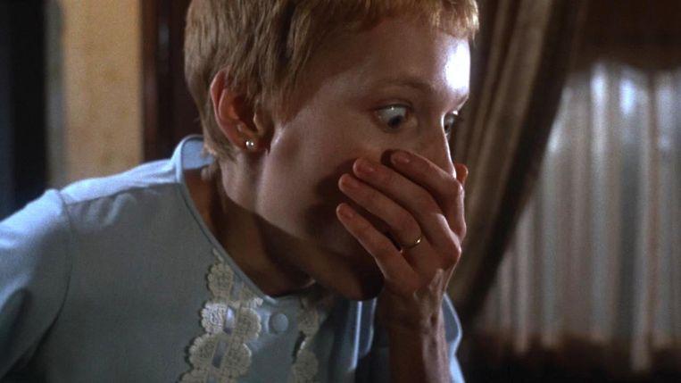 Mia Farrow in Rosemary's Baby. Beeld