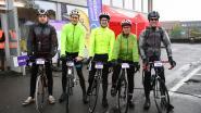Wielertoeristen rijden Brabantse Pijl