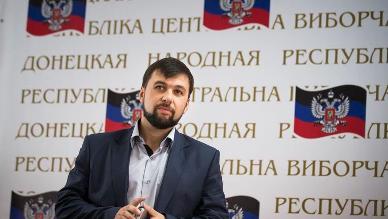 Denis Poesjilin, de zelfverklaarde leider van Donetsk.
