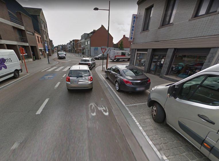 Het kruispunt van Markt met Martelarenstraat en Nieuwstraat