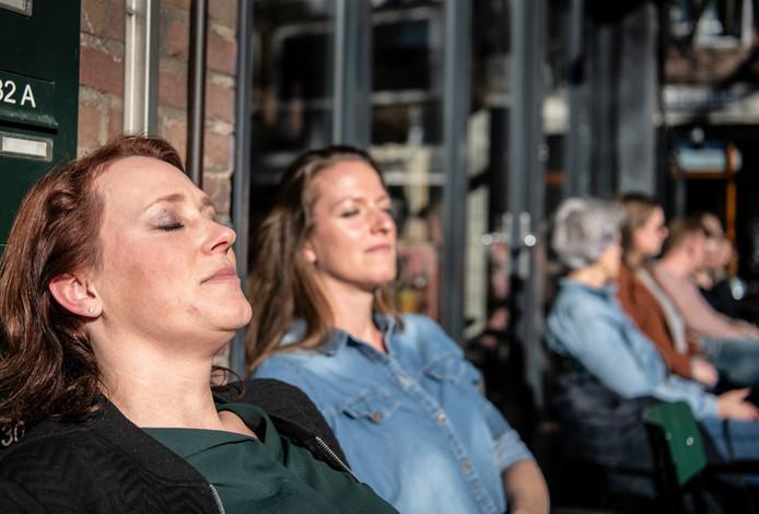 Nederland,,15-02-2019  terras nijmegen   foto Koen Verheijden.