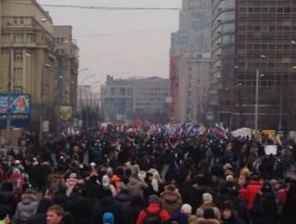 Circa 20.000 Russen betogen voor interventie in Oekraïne