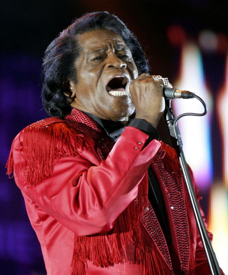 James Brown, hier in 2005 tijdens het Live 8 Concert in het Murrayfield stadion in Edinburgh, Schotland. Beeld ap