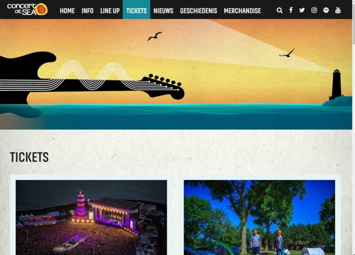 De website van Concert at Sea.