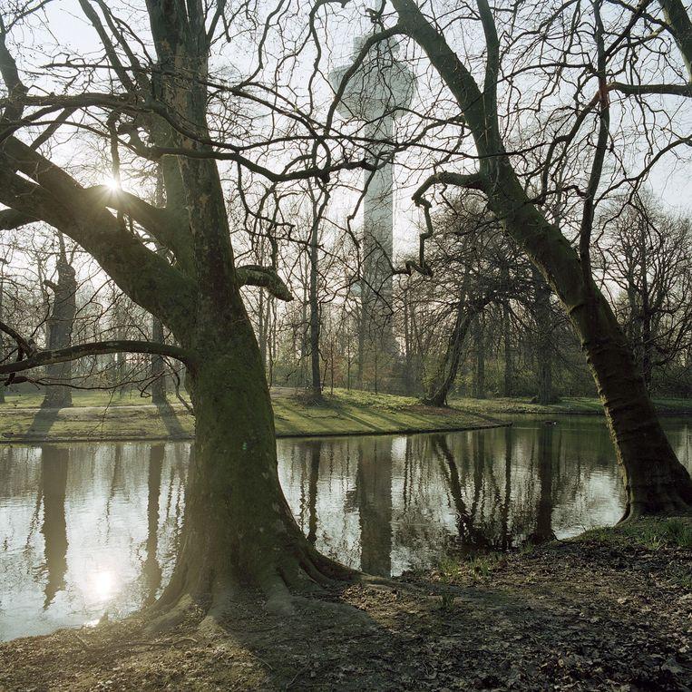 De Euromast in Het Park waar in 1960 de Floriade werd gehouden. Beeld Harry Cock