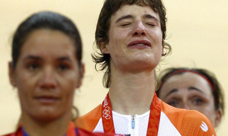 Op de Spelen van Peking in 2008 won Vos nog goud op de baan. Beeld null