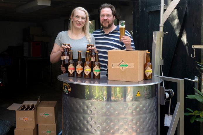 Thijs en Margriet zijn de brouwers van de nieuwe brouwerij De Verdwenen Bock.