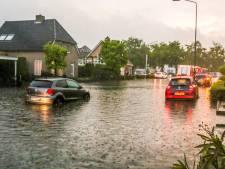 Hevige regen en wateroverlast verrasten Brabanders op warme zondag