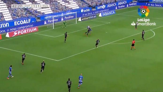 Un but aussi beau qu'important pour Christian Santos et le Deportivo.
