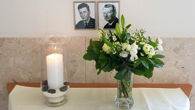 De herdenkingshoek voor Willy Debree en Paul Demare.