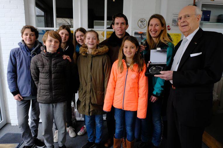 Met Sigrid en Raf Stoffels en hun (pete)kinderen bereikte het Zimmermuseum de kaap van 40.000 bezoekers.