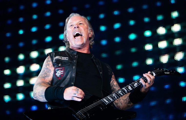 James Hetfield vorige maand tijdens een optreden in Wenen, Oostenrijk.