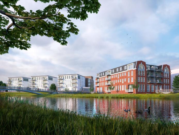 Links het ontwerp voor Dommelstaete, rechts dat van De Brenthof.
