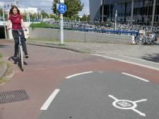 'Puttenparade' op verwarrend fietspad  tussen de Danny Kayelaan en de Albert Schweitzersingel in Rokkeveen