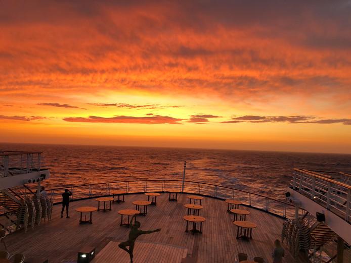 Niet iedereen vertrekt in de zomermaanden naar de zon. Deze foto is gemaakt op cruiseschip Marco Polo in IJsland.
