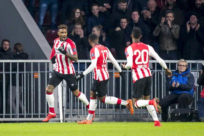Jürgen Locadia na zijn 1-0 tegen FC Twente.