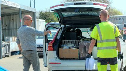 Reserveren voor bezoek aan recyclagepark blijft verplicht, maar kan straks ook online