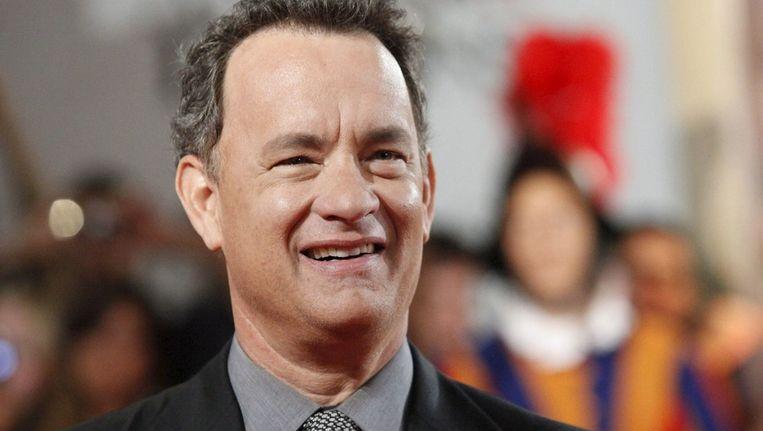 Tom Hanks op de rode loper voor de première van Angels and Demons, eveneens een Dan Brown-verfilming. Beeld epa
