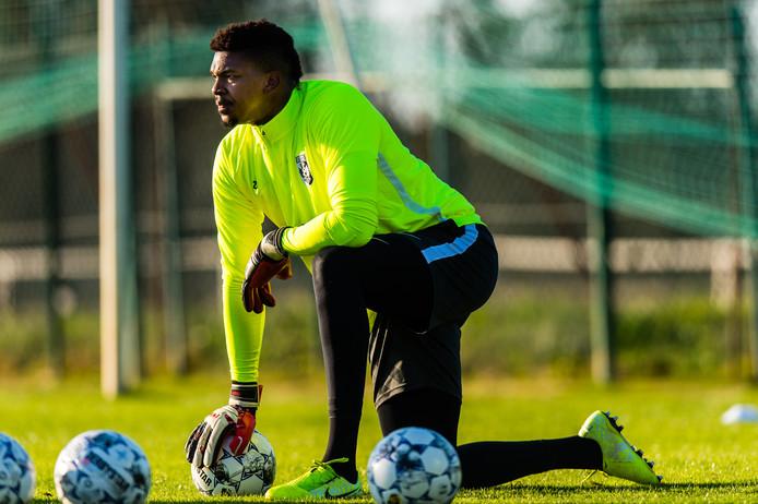 Jamal Blackman op het trainingskamp van Vitesse in Alcantarilha.