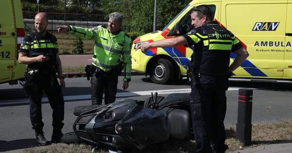 Twee gewonden bij ongeval met motorscooter in Oss.