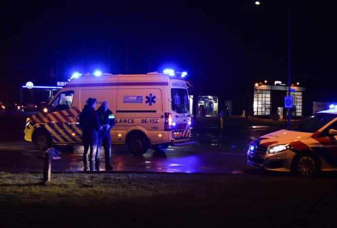 De politie en ambulance ter plaatse.