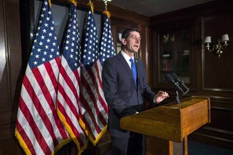 Paul Ryan doet geen gooi naar het Amerikaanse presidentschap. Beeld epa