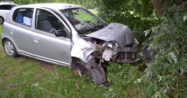 Automobilist gewond bij botsing tegen boom in Maasbommel.