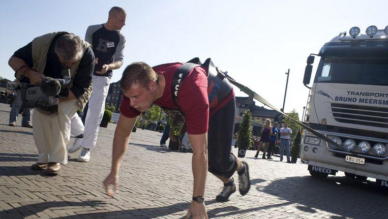 Karel Vanhulsel tijdens zijn deelname in 2008.