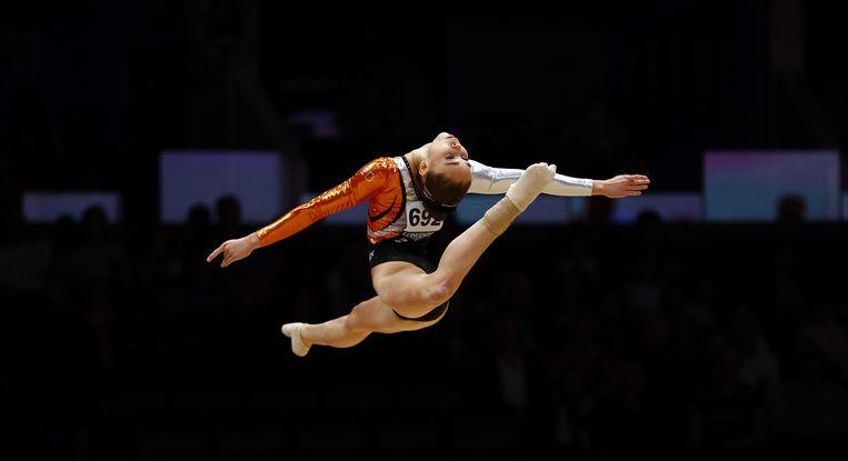 Ook de 17-jarige Eythora Thorsdottir plaatste zich in Glasgow voor de Olympische Spelen. Beeld AP