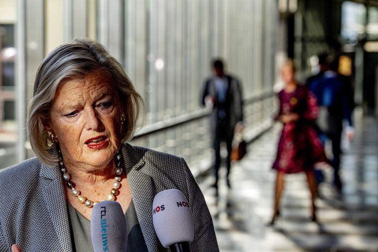 Ankie Broekers-Knol (staatssecretaris van justitie en veiligheid), donderdag in de Tweede Kamer. Beeld ANP