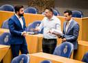V.l.n.r.: Selcuk Ozturk, Tunahan Kuzu en Farid Azarkan van Denk.