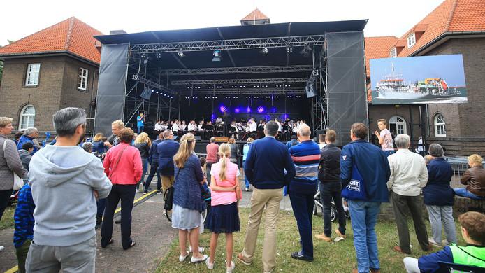 Muziek tijdens Het Baggerfestival.