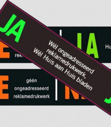 Gemeente Olst-Wijhe draait huis-aan-huiskrant niet de nek om: géén ja/ja-sticker op de brievenbus