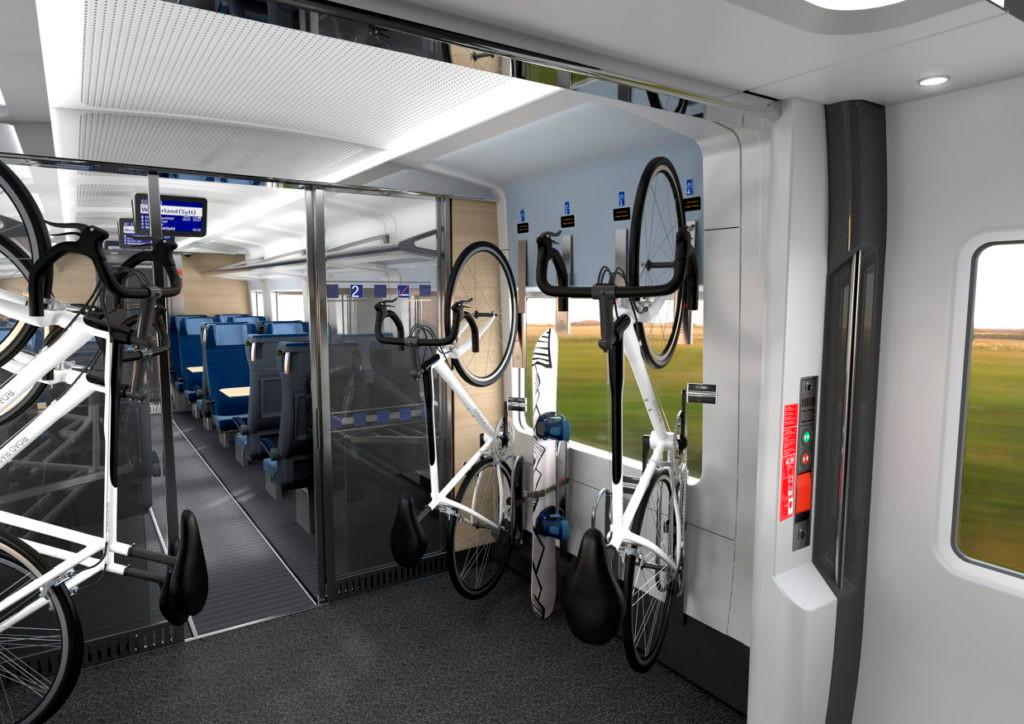 Er komt plek voor 8 fietsen in de trein