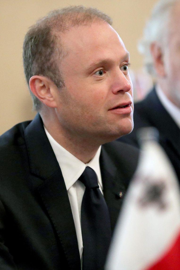 De Maltese premier Joseph Muscat, tijdelijk voorzitter van de EU Beeld epa