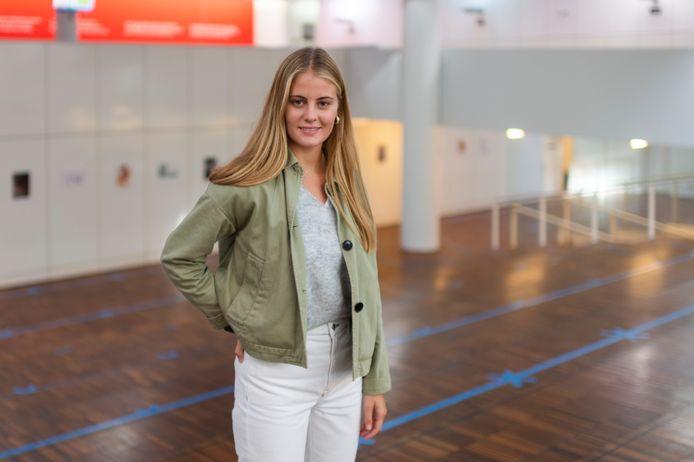 Marion Ceysens startte vandaag aan haar studie Rechten aan de UAntwerpen.
