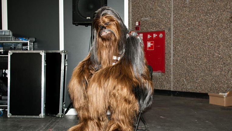 Chewbacca op de Comic Con in Amsterdam. Beeld null