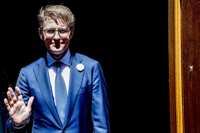 Sander Dekker, minister voor Rechtsbescherming, na de ministerraad.