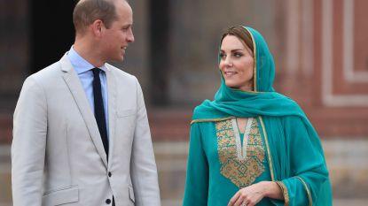 Prins William en Kate Middleton moeten noodlanding maken door storm