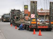 Bergtank met pech zorgt voor verkeershinder in Nijkerk