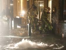 Waterleiding gesprongen op de Baronielaan in Wassenaar