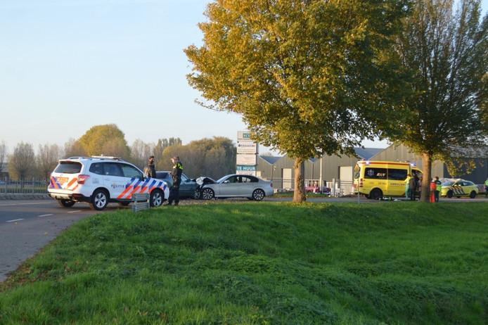 De auto van verdachte en van de ouders van de baby botsten frontaal op elkaar.