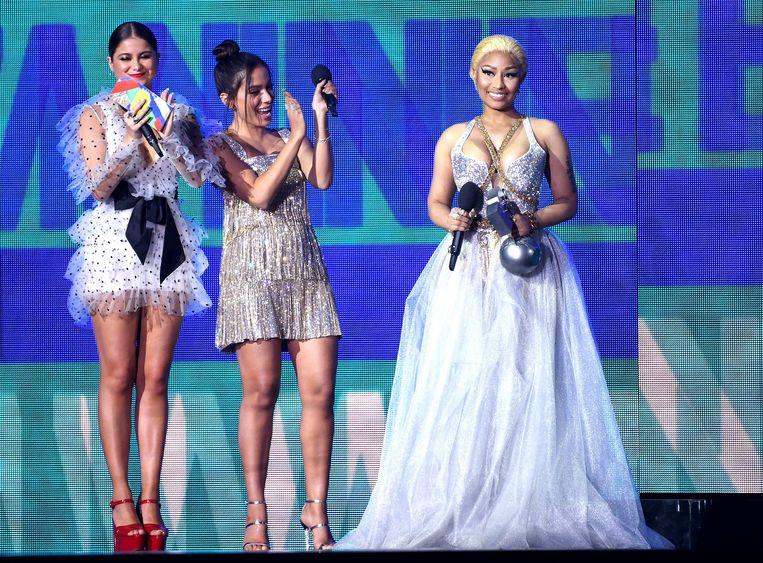 Sofia Reyes, Anitta en Nicki Minaj met haar Best Hip Hop Award.