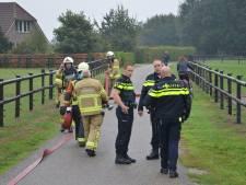 Brandweer rukt uit voor hooibrand in schuur Zutphen