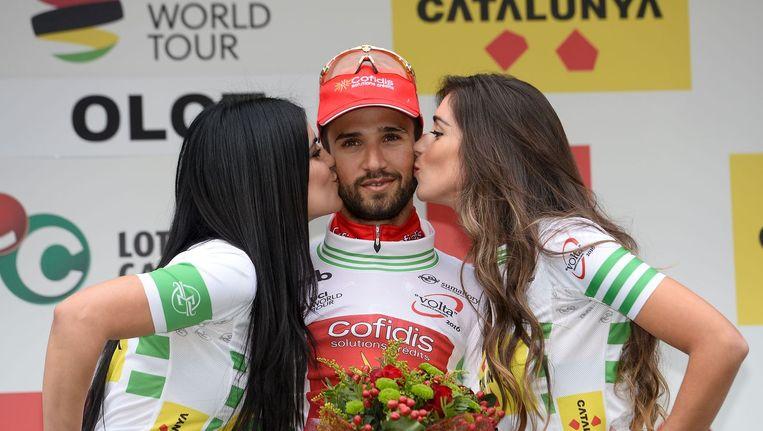 Nacer Bouhanni na winst in de ronde van Catalonië Beeld anp