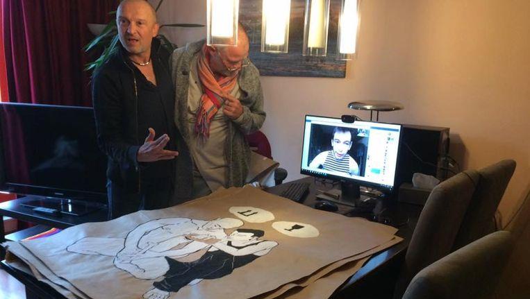De kunstwerken van Demir Demirov zijn vrijgegeven door de russische douane. Beeld Facebook